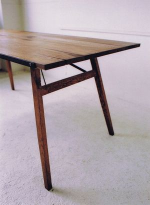 TRUCK |. 123 SUTTO TABLE, 1650 x d750 x h700, solid oak wood