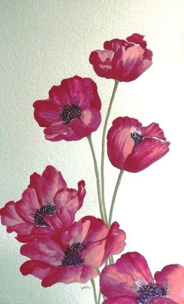 рисунки цветов картинки