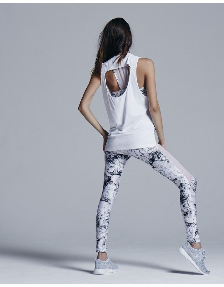Varley Brentwood Tee Back white - Fitness Women's active - http://amzn.to/2i5XvJV