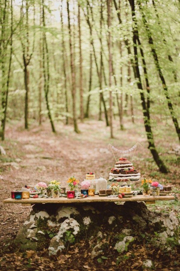 Boho sweet table