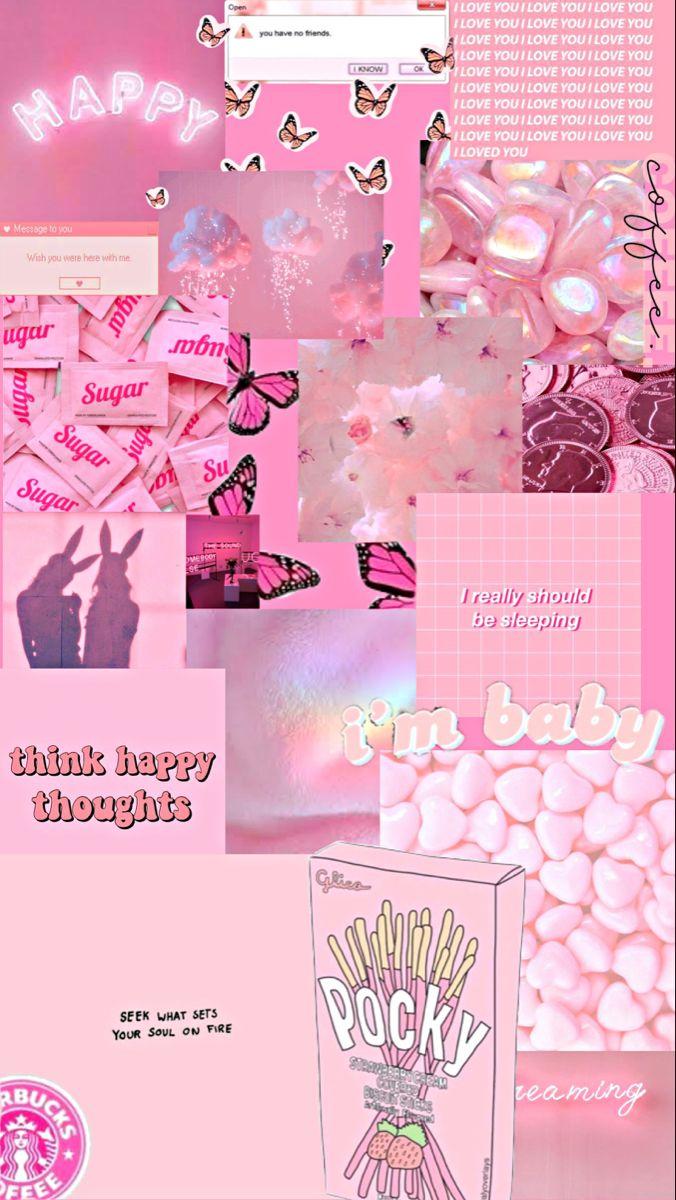 Cute pink aesthetic wallpaper