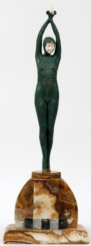 Signed Chiparus Bronze and Ivory - Starfish : Lot 117C