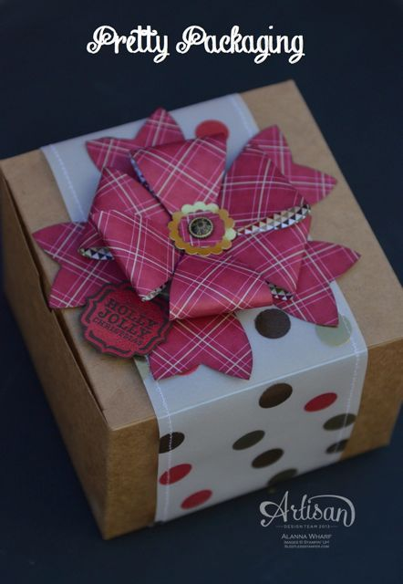 What a fun way to decorate our boxes.: Packaging Sweet, Cute Bows, Sweet Bows, Gifts Bows, Boxes, Bows Punch Di, Bows Die, 3D Bows, Pretty Packaging