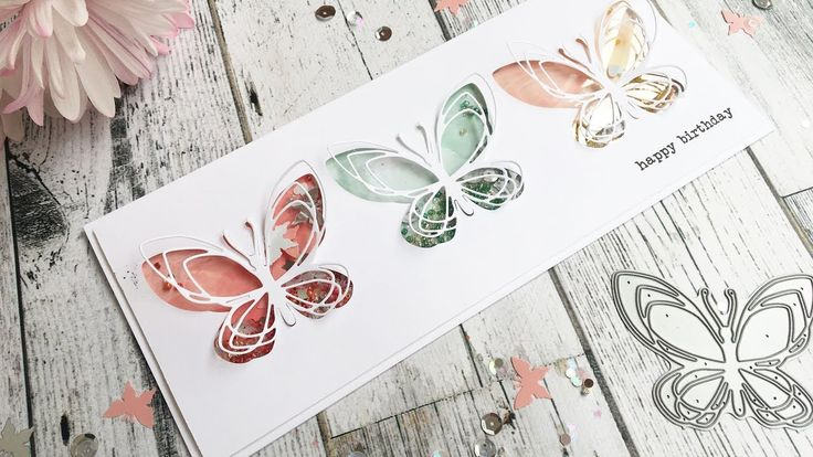 Number 10 Card: Butterfly Shaker Card Tutorial