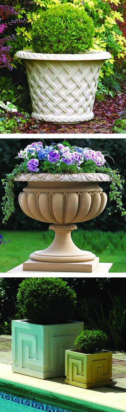 Haddonstone has a range of planters in traditional, classical and contemporary styles