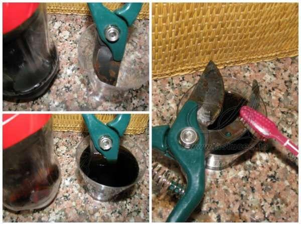 Enlevez la rouille de vos outils avec du coca cola