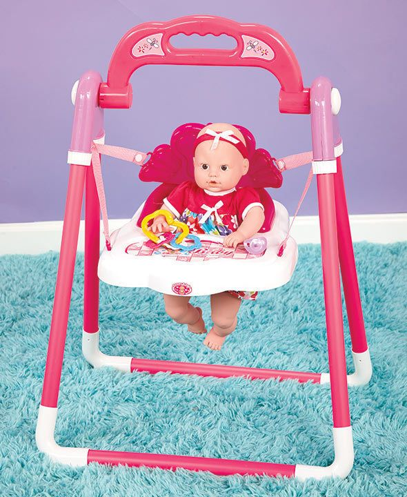 Baby Doll Musical Swing and Accessories. Excellent Christmas Gift