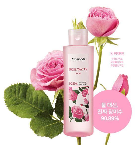 MAMONDE New Rose Water Toner 250ml, 90.89% Rose Water, Soothing Hydrating Toner #MAMONDE