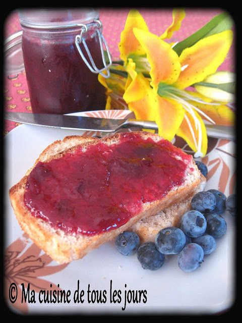 Confiture de prunes rouges