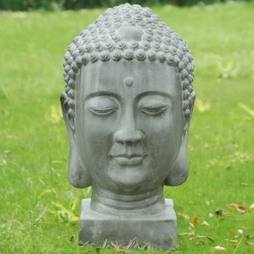 Find It At The Foundary   Stone Buddha Garden Sculpture