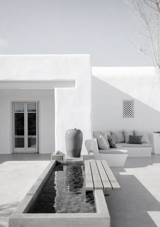 Contemporary outside space