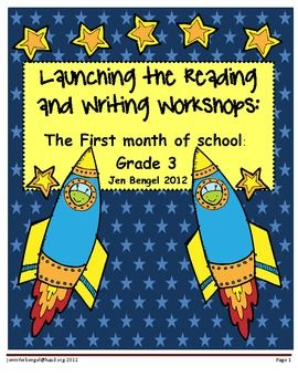 110 pages of lessons and resources for launching the reading and writing workshops. 40 lessons all linked to 3rd grade CCSS!