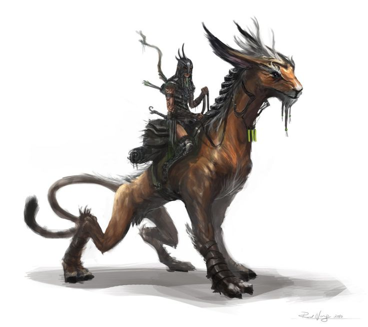Rider01 by rodimus25 on DeviantArt Osalin: a hybrid horse/feline designed to move guickly though the canyon terrain of Barria