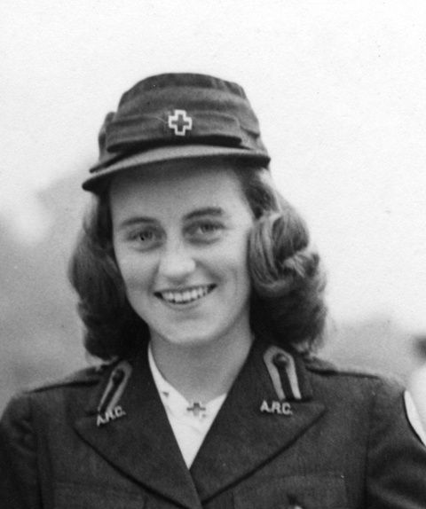 Kathleen Kennedy in her American Red Cross uniform, London, circa 1943. May 13 1948 - Kathleen Cavendish, JFK's sister and the wife of Marquess of Hartington, dies in a plane crash in France