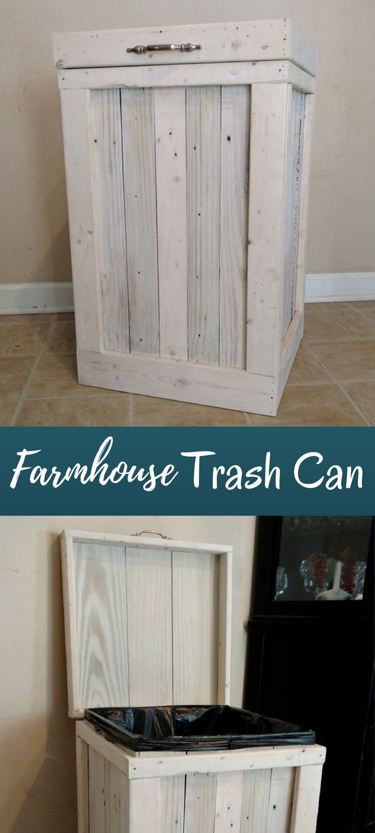 I've been looking for a trash can that had a farmhouse style look.  This is perfect.  #ad