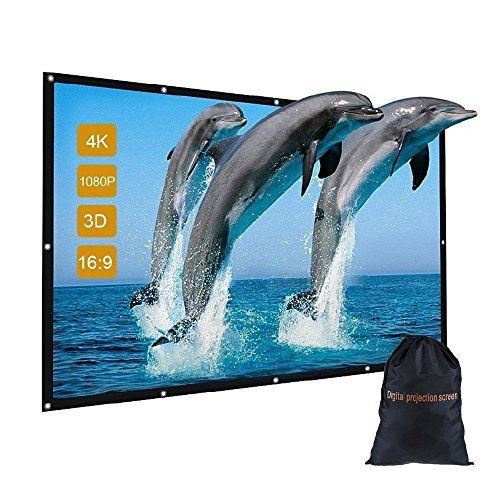 "120 inch Indoor Outdoor Movie Projector Screen with Bag, GBTIGER 120"" 16:9 Portable Folding Outdoor Movie Screen for Home Cinema Theater Presentation Education Outdoor Indoor Public Display etc. #inch #Indoor #Outdoor #Movie #Projector #Screen #with #Bag, #GBTIGER #Portable #Folding #Home #Cinema #Theater #Presentation #Education #Public #Display #etc."
