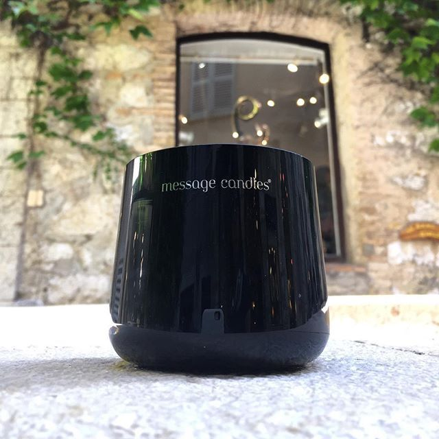 Message Candles around the world. Repost from @annadrdr #messagecandles #saintpauldevence #black #scentedcandles #sendmessagecandles #candel