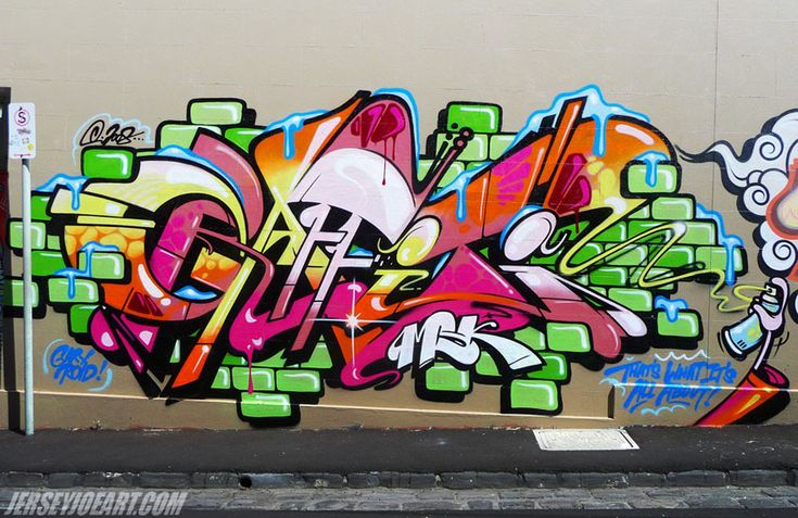 colorful street art graffiti letters