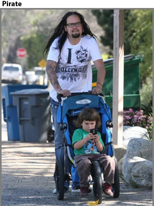 Jonathan Davis (of Korn) and his son, Pirate | Fam[ily]