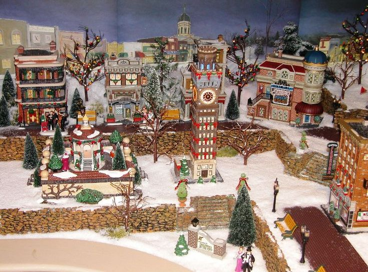 259 best images about christmas in the city on pinterest retirement 56 and wish list - Decor village noel miniature ...
