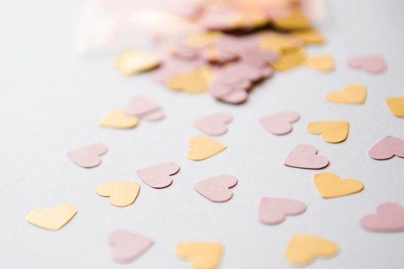 Mix di 300 coriandoli a Cuore Rosa e Oro di BrightSpotOfColour