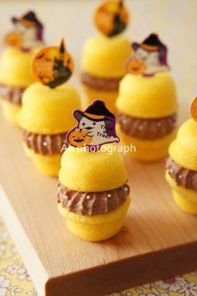 「【ハロウィン】マカロン風パンプキンケーキ」ake | お菓子・パンのレシピや作り方【corecle*コレクル】
