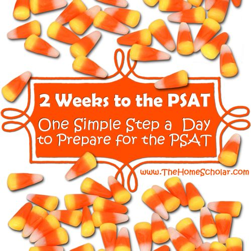 Let me give you just one simple step each day during the month of October to help you coordinate the PSAT on test day!   http://www.thehomescholar.com/2-weeks-to-the-psat.php