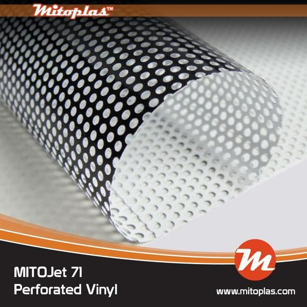 Mitojet 71 70 30 One Way 5 5 Mil Perforated Window Film Window Film Perforated Digital Prints