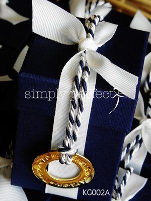 Μπομπονιέρα κουτί σε navy blue με κύκλο ευχών : ΚΩΔ KG002Α
