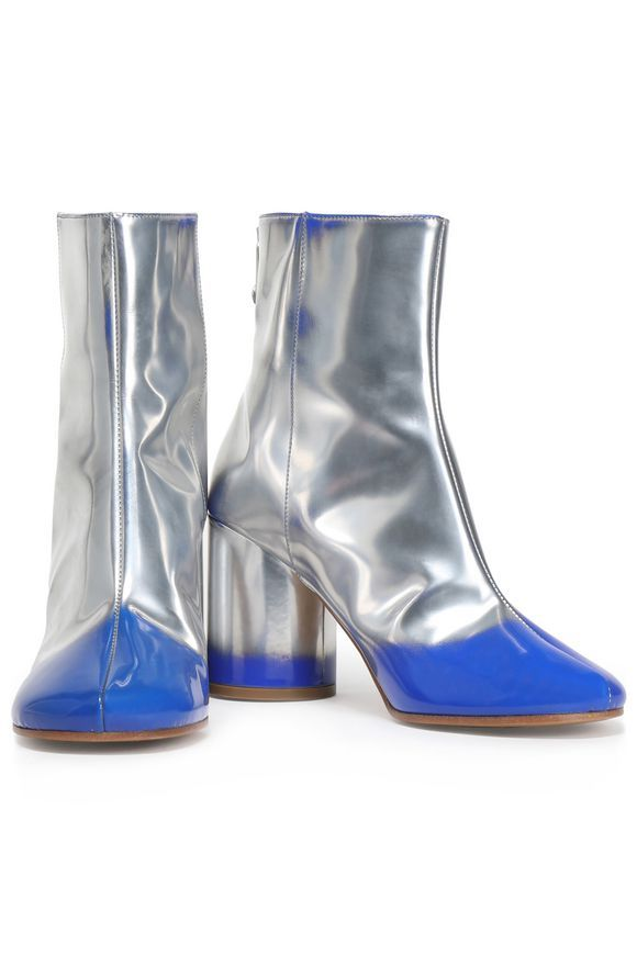 Metallic leather ankle boots | MAISON MARGIELA | Sale up to 70% off | THE OUTNET