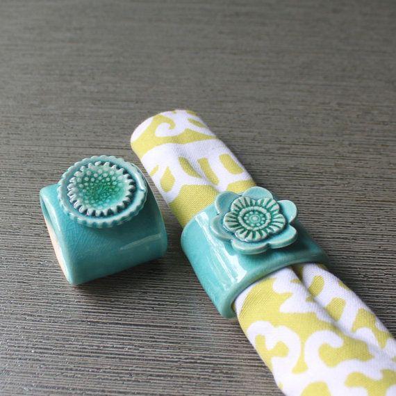 Ceramic napkin rings: