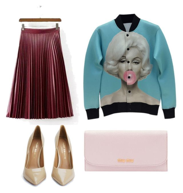 """""""Bubble gum"""" by may-july on Polyvore featuring Kurt Geiger, Cuero, Miu Miu, women's clothing, women's fashion, women, female, woman, misses and juniors"""