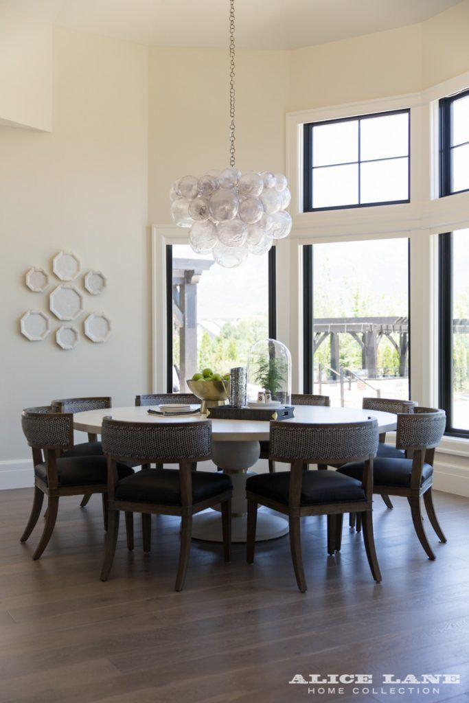 Huge Round Dining Table French Moderne Manor Alice Lane Home
