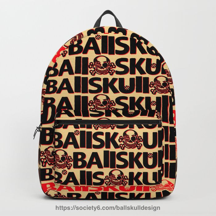 ballskulldesign#BAllSKUll Logos Backpack #bball #design #basketball #hoop #skull #bone #バスケ #バスケットボール #スカル #backpack #リュック https://society6.com/ballskulldesign