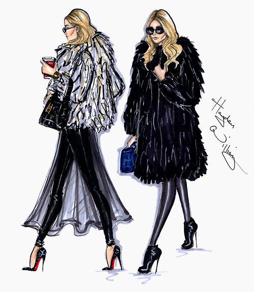 Free Fashion Illustration Hayden Fur