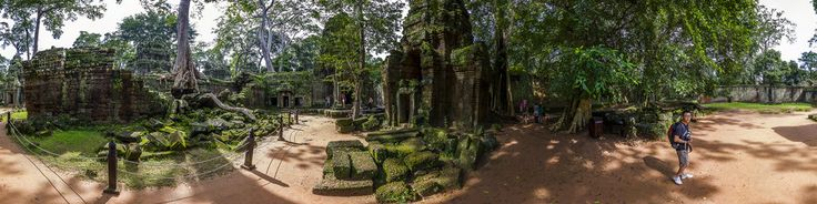 Ta Prohm is the modern name of a temple at Angkor, Siem Reap Province, Cambodia, built in the Bayon style largely in the late 12th and early 13th centuries and originally called Rajavihara . Located approximately one kilometre east of Angkor Thom and on the southern edge of the East Baray, it was founded by the Khmer King Jayavarman VII as a Mahayana Buddhist monastery and university. Unlike most Angkorian temples, Ta Prohm has been left in mu...