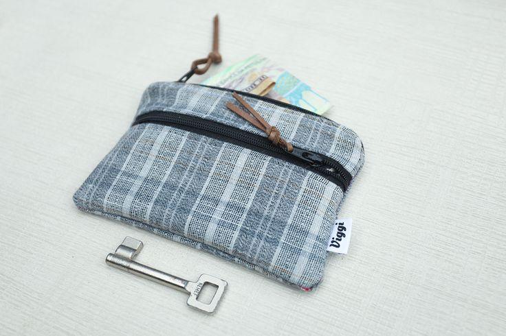Structuur Wallet mannen geld Clip grijze kaart portemonnee