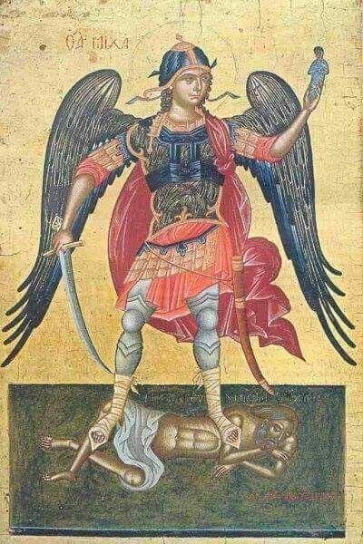 Αρχάγγελος Μιχαήλ της Σύρου.Ψηφιακή απεικόνιση σε καμβά. Τιμή 25 ευρώ.