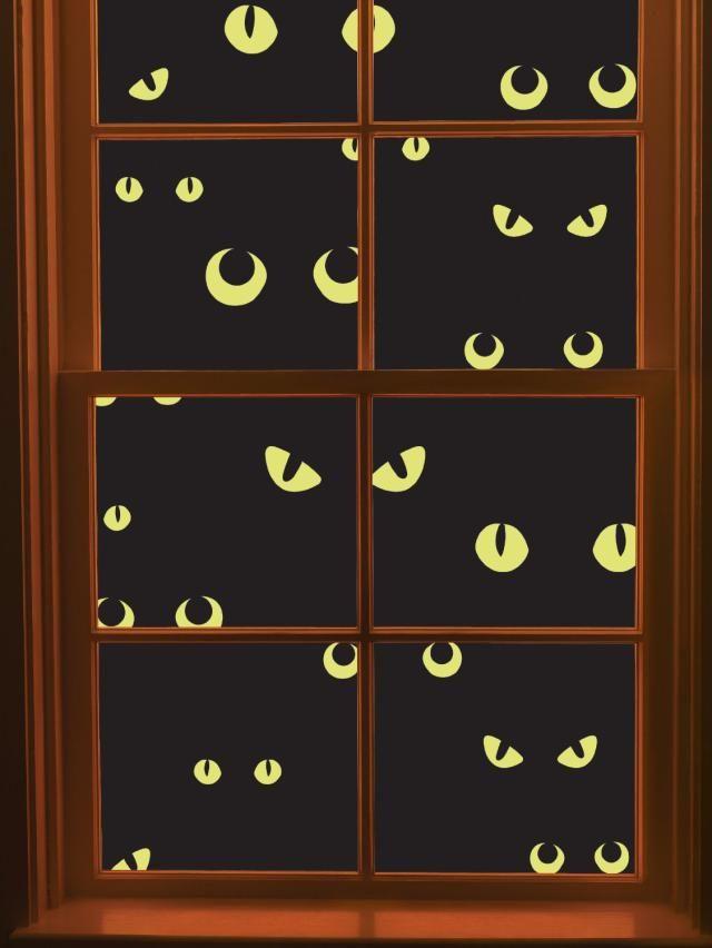 Martha Stewart's Halloween Decorations: Martha Stewart Crafts Window Cling, Scary Eyes