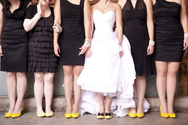 A Whimsical Yellow and Black Wedding In Toronto. Photo by Gemini Photography.