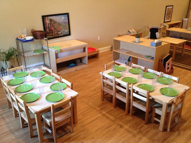 Montessori Toddler Classroom Table Setting Palencia Academy St Augustine