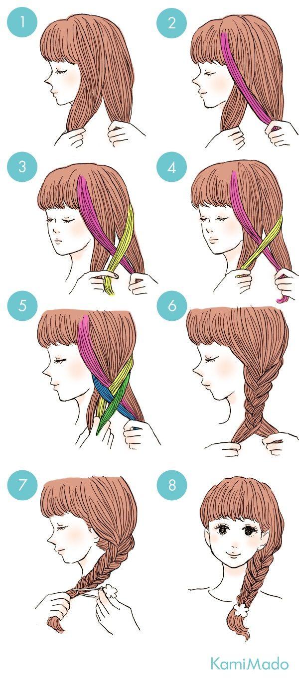 この画像を見ながらやれば実は簡単。 髪の毛を半分に分け、分け...|MERY [メリー]