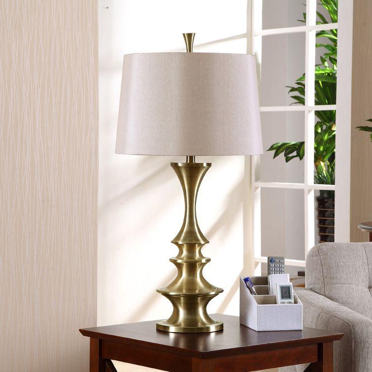 Американский кантри Европейский ретро гостиная исследование настольная лампа современная античная латунь декоративные Железа спальня ночники купить на AliExpress