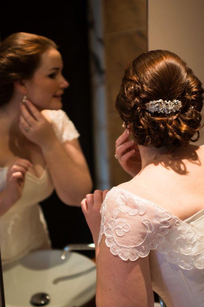 Julia K Couture wedding gown worn by Mindy Bush
