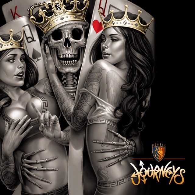 Skull Playing Cards Aces - Google Search