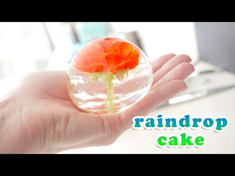 Flower Raindrop Cake Recipe Video How To Cook That Ann Reardon - YouTube