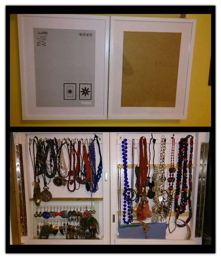 El mejor armario de reyes!! Armario joyero para colgar pendientea y collares, y al estar hechos con marcos de ikea puedo poner dos fotos!!!