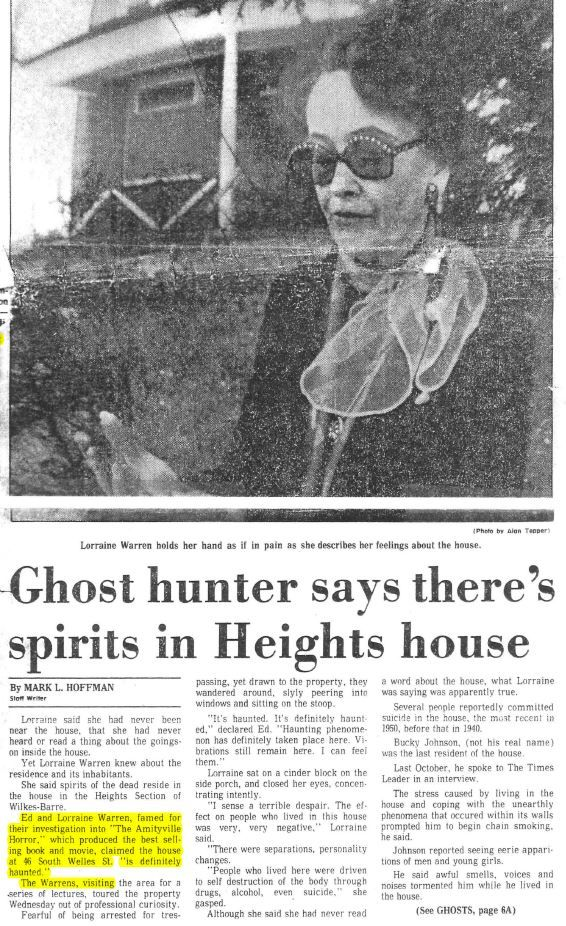 ed and lorraine warren welles house   http://www.welleshouse.com/haunted-history/
