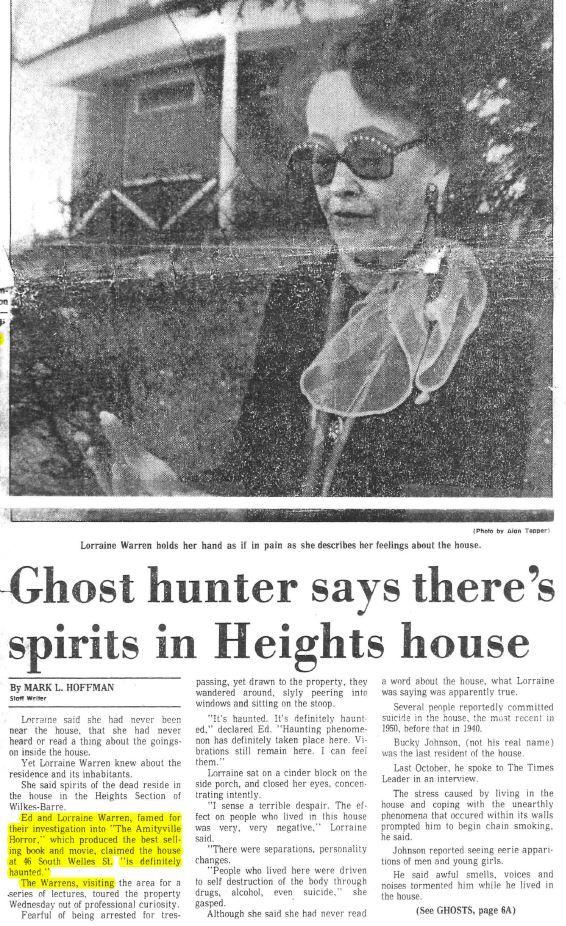 ed and lorraine warren welles house   http://www.welleshouse.com/haunted-history/