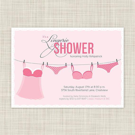 Lingerie shower invitations wedding shower by inkwelldesignstudio 1800 showers pinterest for Lingerie bridal shower invitations